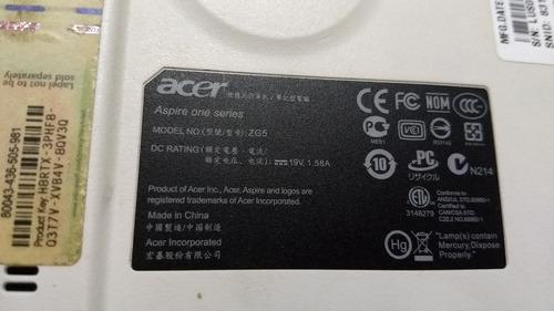 carcasa completa portatil acer aspire one zg5 (2538)