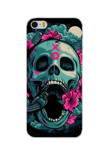 carcasa cráneo punk sugar skull gotico iphone 6plus 6splus