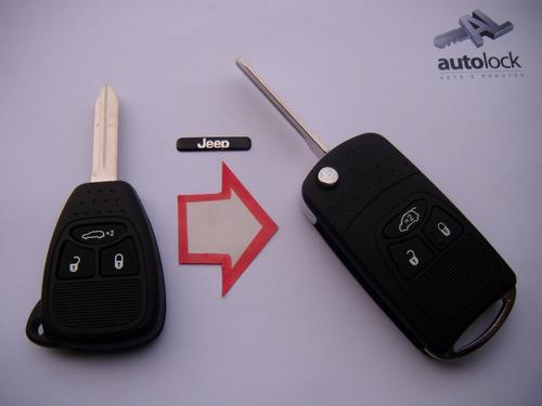 carcasa de control remoto con flip para jeep new cherokee