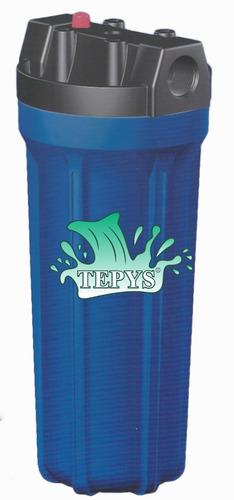 carcasa de filtro 2.5'' x 10'' azul ent y sal 3/4 3d.obis