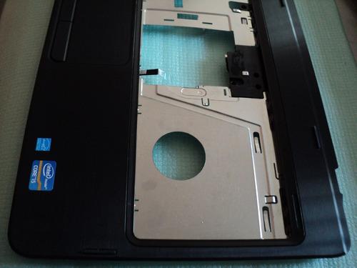 carcasa de pantalla +  touchpad dell inspiron n4050 negra