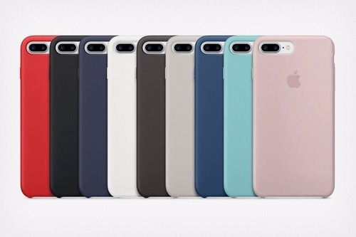 carcasa de silicona para iphone 7 plus y 8 plus colores