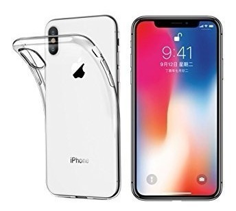carcasa de silicona transparente para iphone x