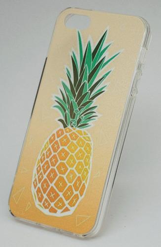 carcasa diseño piña, iphone 5/se/7/8 & plus. apple