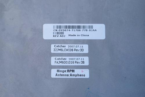 carcasa display top cover latitude d820 / d830 # parte gm977