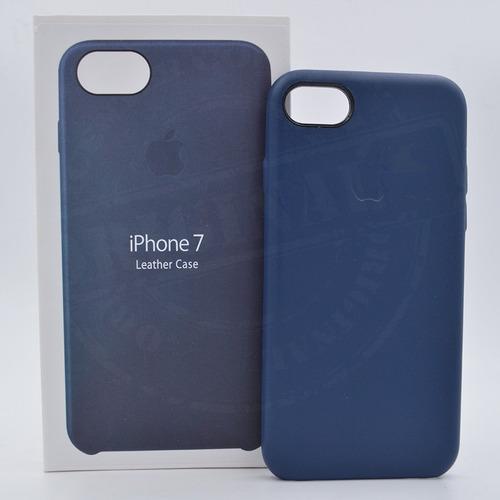 carcasa en cuero iphone 7 plus forro estuche manzana caja