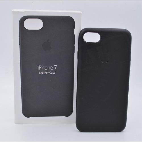 carcasa en cuero para iphone 7 8 forro estuche manzana caja