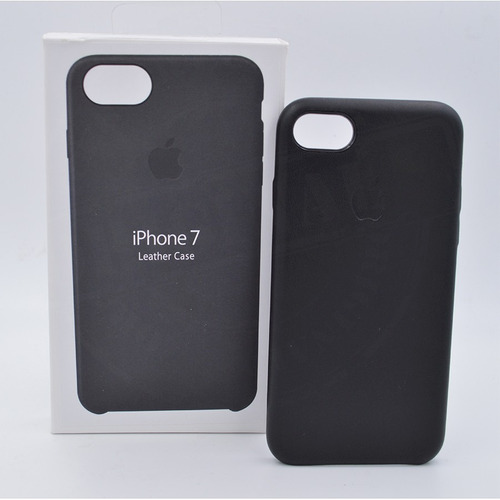 carcasa en cuero para iphone 7 forro estuche manzana caja