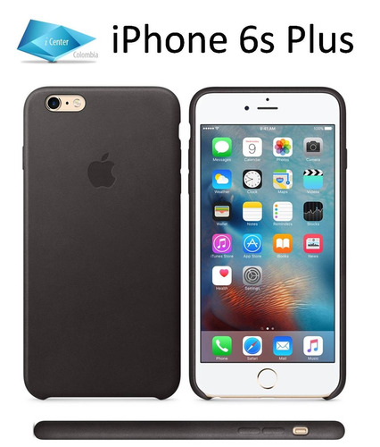carcasa estuche funda cuero iphone 6 plus 6s plus manzana