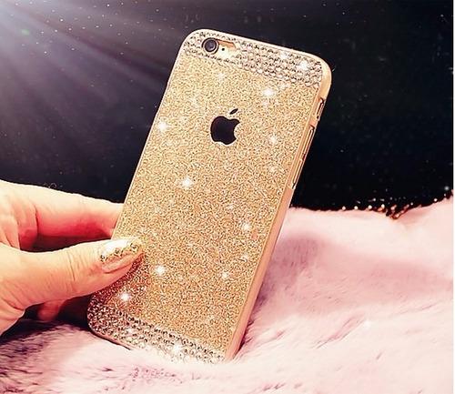 carcasa estuche iphone 6 - 6s brillante con diamantes