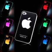 carcasa estuche led logo apple iphone 4 / 5 accesorios