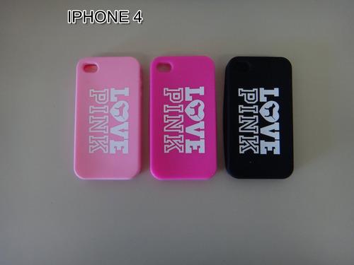 carcasa estuche protector pink iphone 4-5-6-6p envio gratis