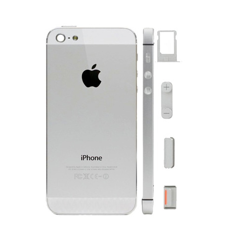 carcasa full tapa trasera botones porta sim iphone 5g