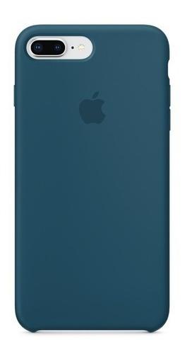 carcasa funda de silicona iphone 7 plus y 8 plus azul cosmo