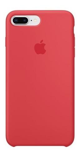 carcasa funda de silicona iphone 7 plus y 8 plus frambuesa