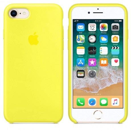 carcasa funda de silicona iphone 7 y 8 amarillo pollito