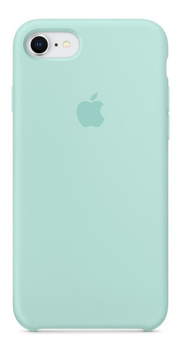 carcasa funda de silicona iphone 7 y 8 azul mar