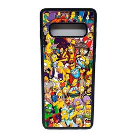 Carcasa Galaxy S10+ Los Simpsons (antigolpes)