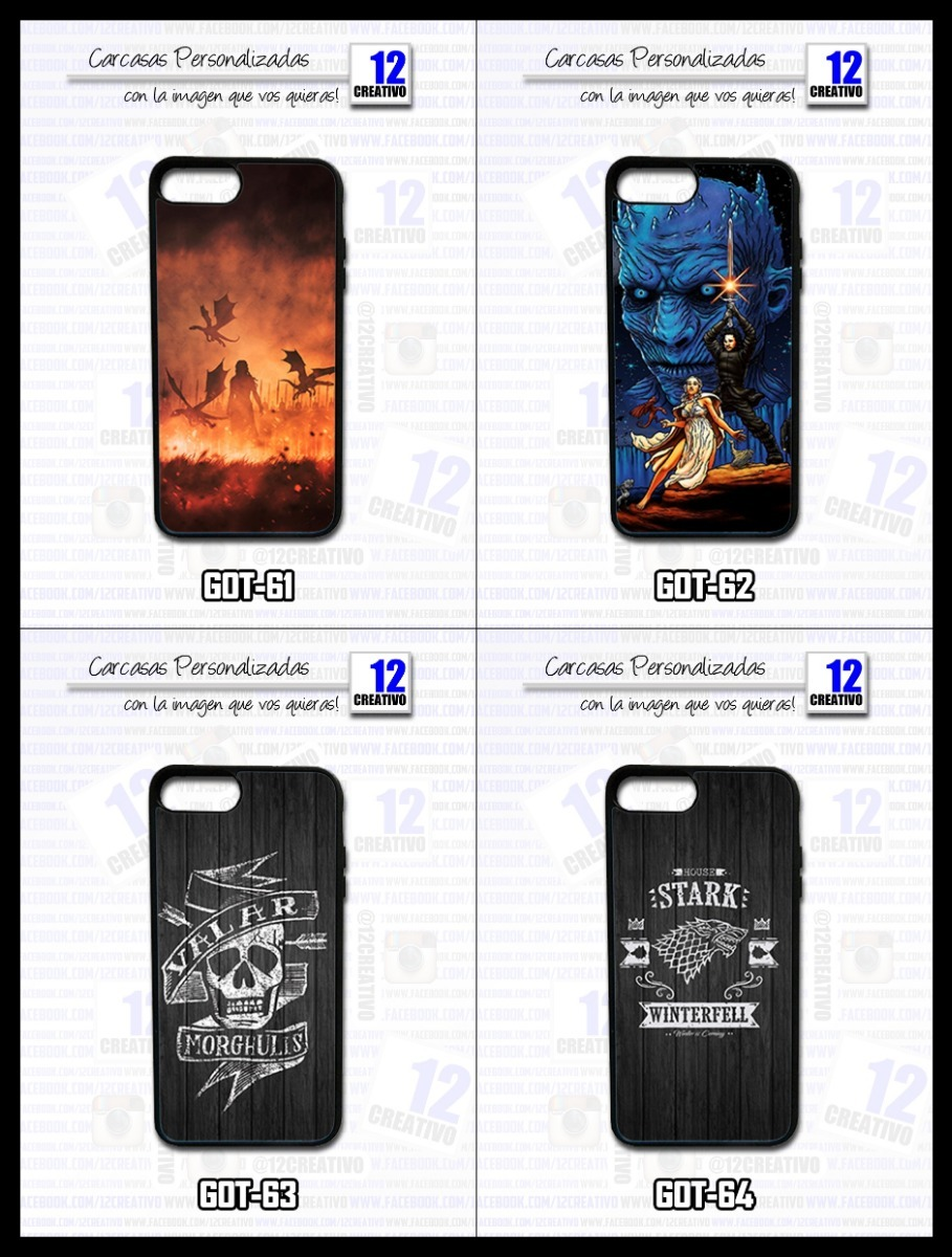 12289cca882 Carcasa Game Of Thrones Got iPhone Se 5 6 X 7 8 Plus Funda - $ 549 ...