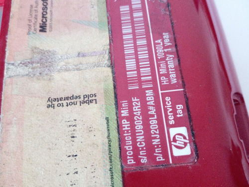 carcasa inferior base motherboard hp mini 1090la