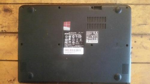 carcasa inferior con teclado mini laptop acer aspire v5 122p