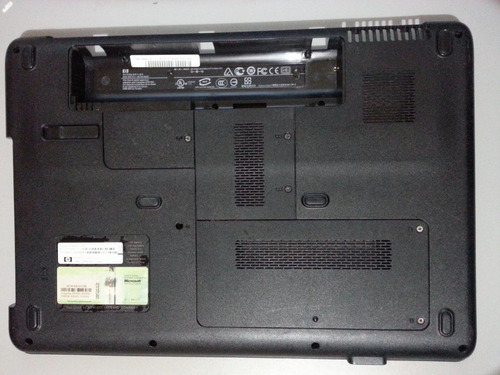 carcasa inferior laptop compaq cq50 power jack