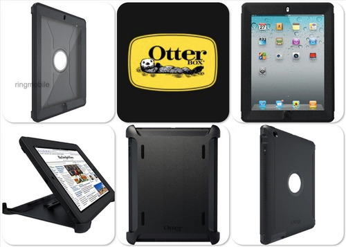 carcasa ipad 2 3 4 estuche antichoque otter defender survivo