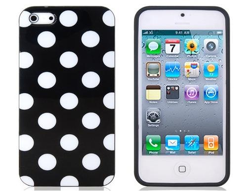 carcasa iphone 4 material tpu diseño lunares mujer