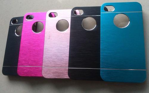 carcasa iphone 4g/s acabado metalizado