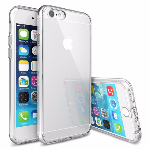 carcasa iphone 6 6s transparente flexigel ultradelgada caja