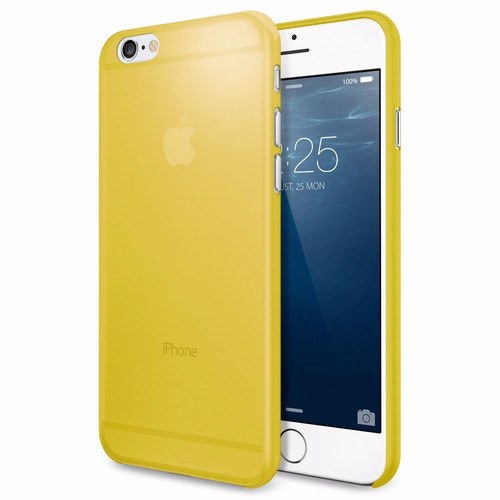 carcasa iphone 6 frosted case yellow 4.7 pulgadas