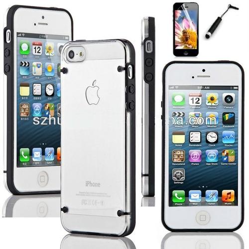 carcasa (iphone se) con lámina anti huella y lapiz