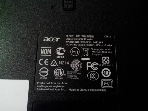 carcasa laptop acer 5536/5236 series /bisel y carcasa