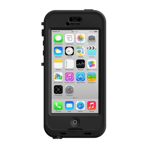carcasa lifeproof impermeable p/iphone 5c negra/transparente