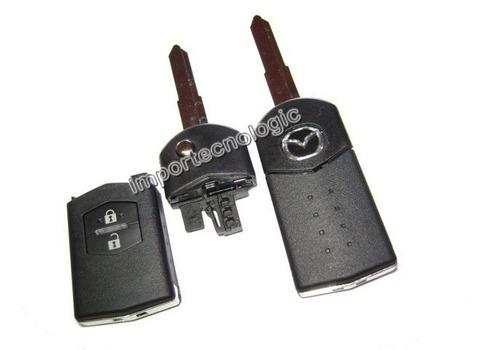 carcasa llave 2 botones mazda 3 mazda 5 mazda 6 mazda cx7