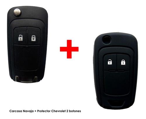 carcasa llave chevrolet tracker orlando 2 botones + forro