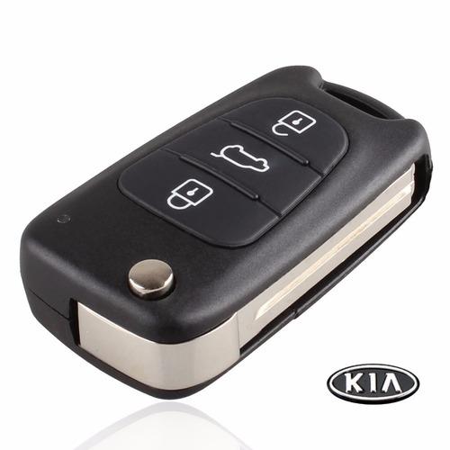 carcasa llave control 3 botones kia cerato - sportage - rio