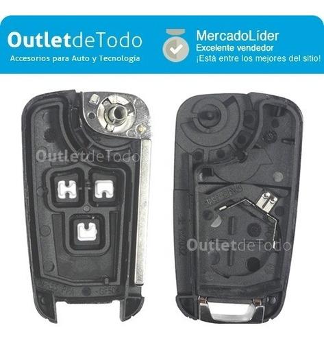 carcasa llave control autos chevrolet 3 botones cruze sonic