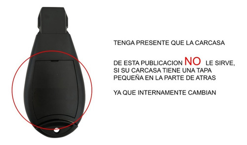carcasa llave control dodge journey 2008 - 2011
