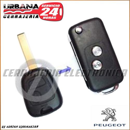 carcasa llave peugeot 206 flip codificada cerrajeria urbana