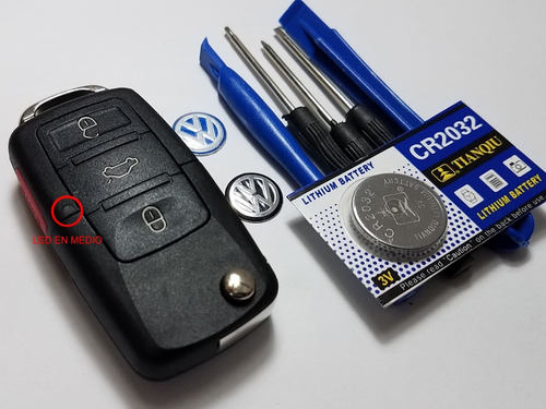 carcasa llave vw jetta a4 bora beetle pila logos accesorios