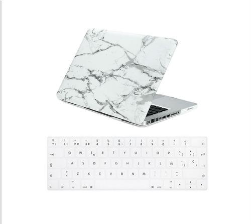 carcasa mac air 13 marmol blanco y teclado 13 español blanco