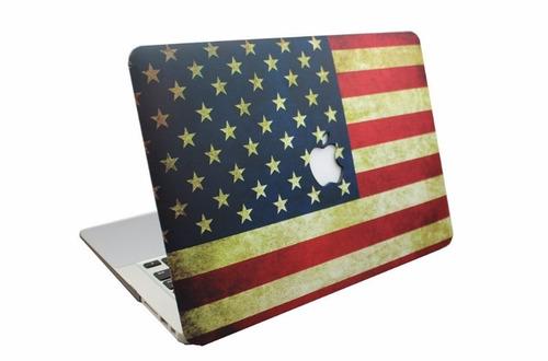 carcasa macbook pro 13 cd usa estados unidos america logo
