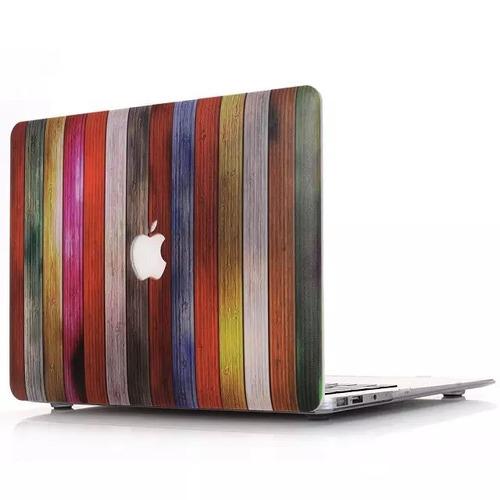 carcasa macbook pro 13 impresion madera mate troquel logo