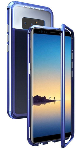 carcasa magnetica reforzada azul para samsung note 8