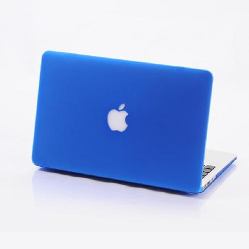 carcasa mate para macbook air 13 troquel logo manzana color