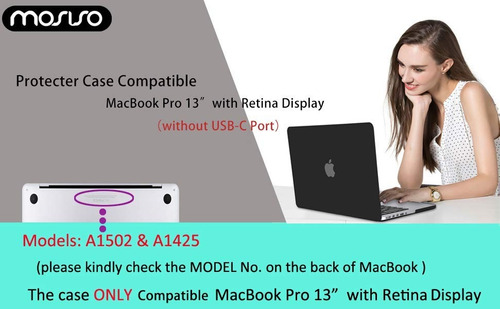 carcasa - mosiso - macbook pro 13,3  2015/12 a1502 y a1425
