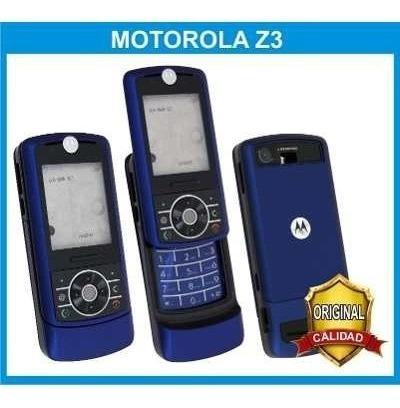 carcasa motorola z3 original. color: azul oscuro.