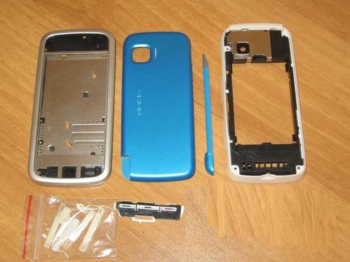 carcasa nokia 5230 completa color azul