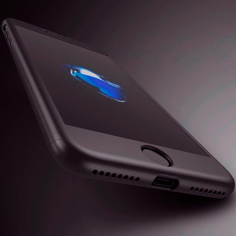carcasa iphone 7 360 grados negra